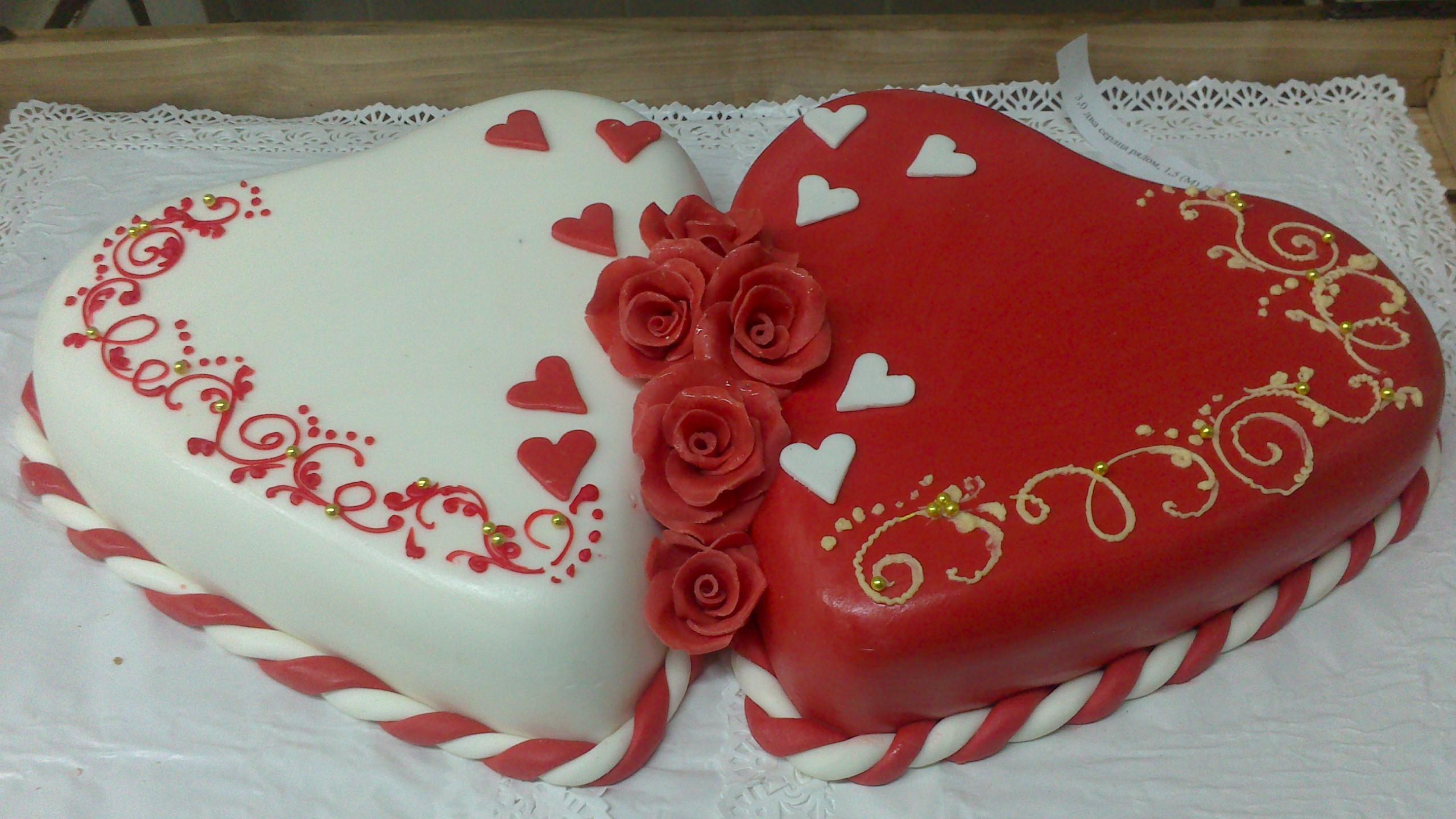 Торты сердца на свадьбу фото