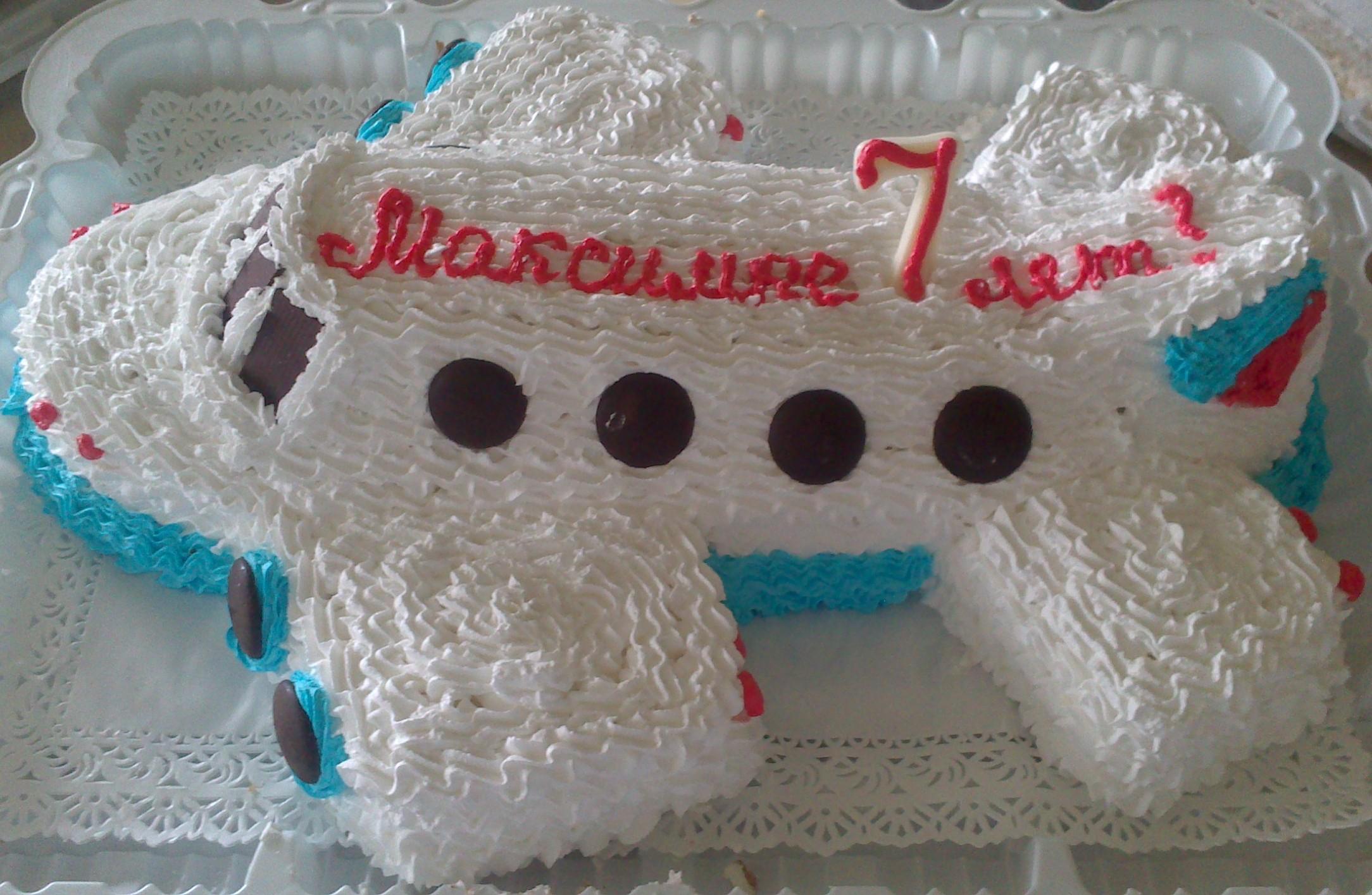 Торт из крема для детей на день рождения фото